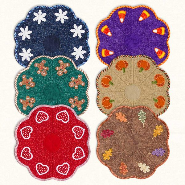 Candle Mats Fall Winter Group